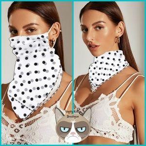 Polka Dot Mask Scarf
